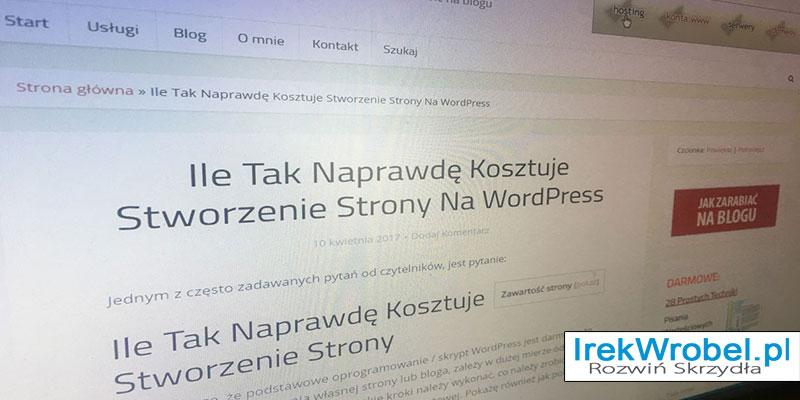 Ile-Tak-Naprawde-Kosztuje-Stworzenie-Strony-Na-WordPress-dla-poczatkujacych-irek-wrobel